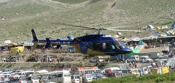 Amarnath yatra by helicopter Pahalgam